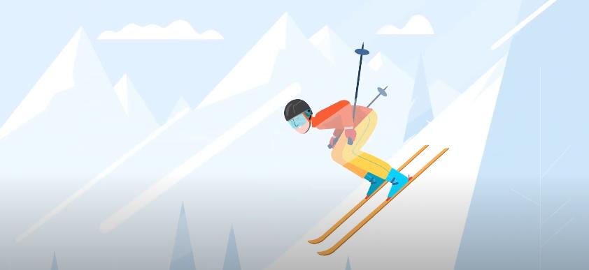 Servis lyží slyze